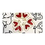 Love Love Hearts Satin Wrap