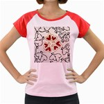 Love Love Hearts Women s Cap Sleeve T-Shirt