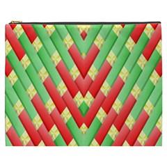 Christmas Geometric 3d Design Cosmetic Bag (xxxl)  by Sapixe