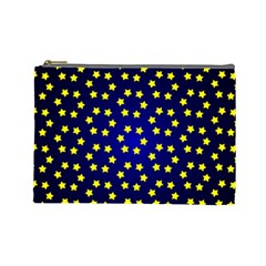 Star Christmas Red Yellow Cosmetic Bag (large)  by Sapixe