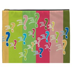 Question Mark Problems Clouds Cosmetic Bag (xxxl)  by Sapixe