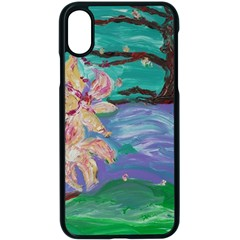 Magnolia By The River Bank Apple Iphone X Seamless Case (black) by bestdesignintheworld