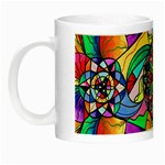 Blue Ray Transcendance Grid - Glow in the Dark Mug