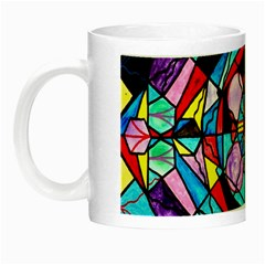 Sacred Geometry Grid   Glow In The Dark Mug