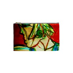 Girl In A Blue Tank Top Cosmetic Bag (small)  by bestdesignintheworld