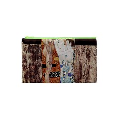 The Three Ages Of Woman  Gustav Klimt Cosmetic Bag (xs) by Valentinaart