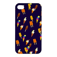 Ice Cream Cone Cornet Blue Summer Season Food Funny Pattern Apple Iphone 4/4s Hardshell Case by yoursparklingshop