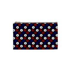 Eye Dots Red Blue Cosmetic Bag (small)  by snowwhitegirl