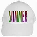 Summer Colorful Rainbow Typography White Cap