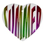 Summer Colorful Rainbow Typography Ornament (Heart)