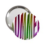 Summer Colorful Rainbow Typography 2.25  Handbag Mirrors