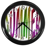 Summer Colorful Rainbow Typography Wall Clocks (Black)