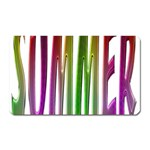 Summer Colorful Rainbow Typography Magnet (Rectangular)