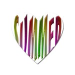 Summer Colorful Rainbow Typography Heart Magnet