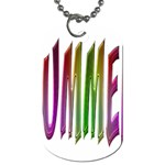 Summer Colorful Rainbow Typography Dog Tag (One Side)