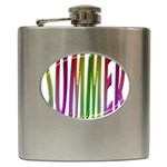 Summer Colorful Rainbow Typography Hip Flask (6 oz)