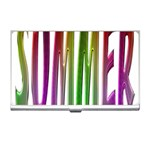 Summer Colorful Rainbow Typography Business Card Holders