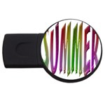 Summer Colorful Rainbow Typography USB Flash Drive Round (2 GB)
