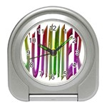 Summer Colorful Rainbow Typography Travel Alarm Clocks