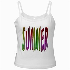Summer Colorful Rainbow Typography Ladies Camisoles by yoursparklingshop
