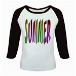 Summer Colorful Rainbow Typography Kids Baseball Jerseys
