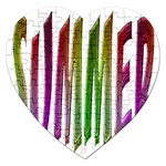 Summer Colorful Rainbow Typography Jigsaw Puzzle (Heart)