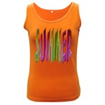 Summer Colorful Rainbow Typography Women s Dark Tank Top