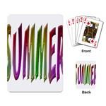 Summer Colorful Rainbow Typography Playing Card