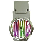 Summer Colorful Rainbow Typography Money Clip Watches