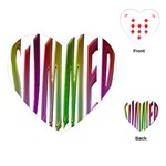 Summer Colorful Rainbow Typography Playing Cards (Heart)