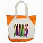 Summer Colorful Rainbow Typography Accent Tote Bag