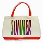 Summer Colorful Rainbow Typography Classic Tote Bag (Red)