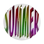 Summer Colorful Rainbow Typography Round Ornament (Two Sides)