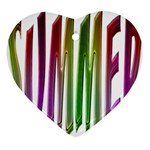 Summer Colorful Rainbow Typography Heart Ornament (Two Sides)