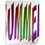 Summer Colorful Rainbow Typography Canvas 12  x 16
