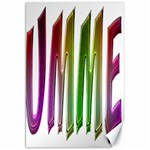 Summer Colorful Rainbow Typography Canvas 20  x 30