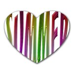 Summer Colorful Rainbow Typography Heart Mousepads