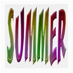 Summer Colorful Rainbow Typography Medium Glasses Cloth