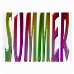Summer Colorful Rainbow Typography Large Glasses Cloth (2-Side)