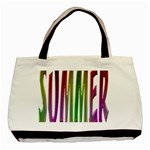 Summer Colorful Rainbow Typography Basic Tote Bag (Two Sides)