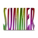 Summer Colorful Rainbow Typography Plate Mats