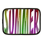 Summer Colorful Rainbow Typography Netbook Case (Medium)