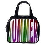 Summer Colorful Rainbow Typography Classic Handbags (One Side)