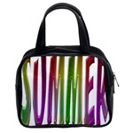 Summer Colorful Rainbow Typography Classic Handbags (2 Sides)