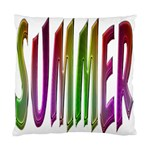 Summer Colorful Rainbow Typography Standard Cushion Case (One Side)
