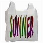 Summer Colorful Rainbow Typography Recycle Bag (Two Side)