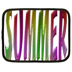 Summer Colorful Rainbow Typography Netbook Case (xxl)  by yoursparklingshop