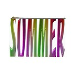 Summer Colorful Rainbow Typography Cosmetic Bag (Large)