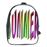 Summer Colorful Rainbow Typography School Bag (Large)