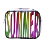 Summer Colorful Rainbow Typography Mini Toiletries Bags